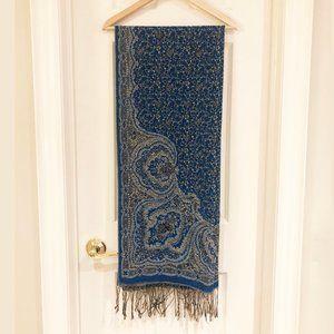 Large Pashmina & Silk Scarf / Shawl / Wrap